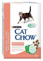 Cat Chow (Кэт Чау) Sensitive 1,5кг - корм для кошек с чувствительной кожей и пищеварением