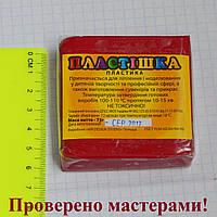 Полимерная глина Пластишка, цвет бордовый 75 г.