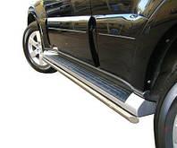 Трубки под пороги для Mitsubishi Pajero Wagon (2006-on)