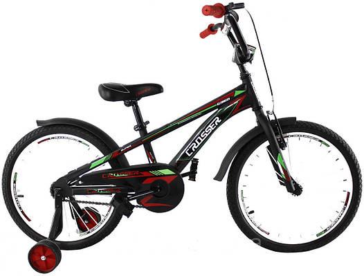"""Детский велосипед CROSSER G-960  20""""  Черный/красный"""