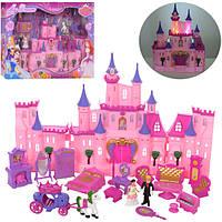 Замок SG-2969 (12шт) принцес,муз,св,31,5-25-13,5см,фигур от6,5см,мебель,карет,на бат,в кор 38-57-8см