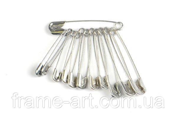 Булавка маленькая английская фасовка 10шт серебро