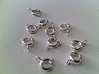 Застежка круглая 6*6*1,5мм серебро 1шт