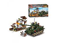 Конструктор BRICK 1711 Военная серия, строение, танк
