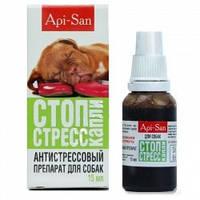 Api-san Стоп-стресс капли успокоительные для собак, 15 мл