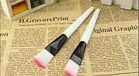 Кисть для рисования розовая, синтетика 145*18мм W03636