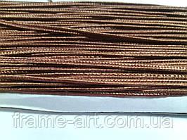 Сутаж 3мм Цвет-71 коричневый полиэстер 946