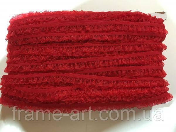 Резинка органзовая №26 1,5см красная