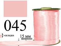 Peri Bias Косая бейка, атласная 15мм/120ярд 045 светло-розовая