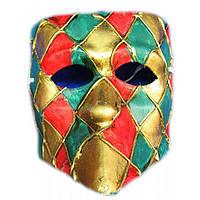 Карнавальная маска мужская театральная Арлекин