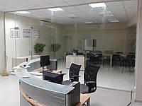 Стеклянные перегородки для офиса Киев, входные группы из стекла, стеклянные маятниковые двери для офисов