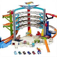 Легендарный гараж Hot Wheels с трассами и машинками Mattel CMP80