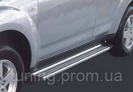 Пороги с подсветкой для Mitsubishi Outlander XL (2006 — on)