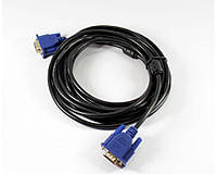Шнур VGA 5M 3+2, шнур для монитора vga, кабель переходник