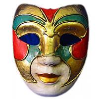 Маска венецианского карнавала цветная