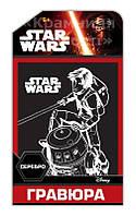 Гравюра Star Wars Серебро 'Эзра и Чоппер' (7009-61)