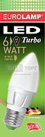 EUROLAMP Светодиодная лампа EUROLAMP LED TURBO Candle 6W E27 3000K (50)