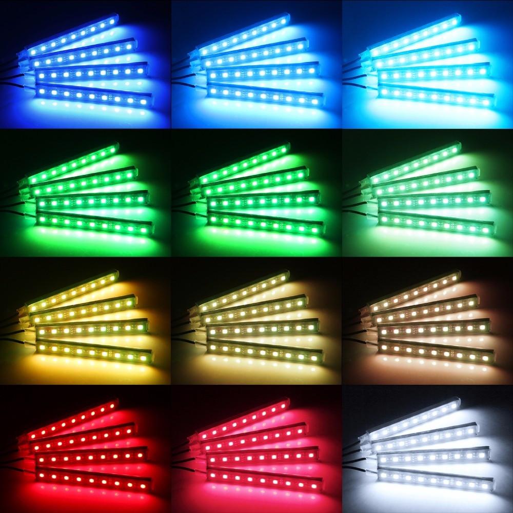 RGB подсветка ног и салона авто