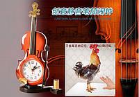"""Часы будильник """"Скрипка"""" настольные c подставкой для ручки (подарок для любителя скрипки)"""