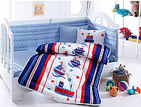 Набор в кроватку COTTON BOX BEBEK UYKU SETİ Denizci mavi детское