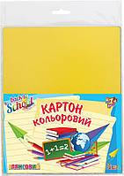 Набор цветного картона глянцевого А4  12 листов 12 цветов п/э 950254 1 Вересня
