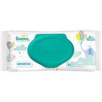 Pampers Sensitive влажные салфетки (с клапаном), 56 шт.