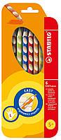 Карандаши цветные 6 цветов для левши STABILO EASYcolors 290221 Stabilo