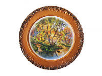 Тарелка подвесная Осенние березы (Картины, панно)