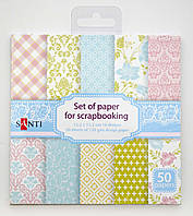 Набор бумаги для скрапбукинга, 50 штук упаковка 951930 Santi