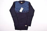 Джемпер для мальчика вязанный (цв.синий) СIHAN 050 Рост:152,158,164
