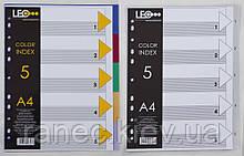 Разделитель страниц пластиковый А4 (5 разделов) L3565 490587 Datum