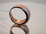 Кольцо серебряное позолоченное, фото 3