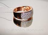 Кольцо серебряное позолоченное, фото 4