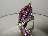 Эксклюзивные кольца — Кольцо с позолотой, рубином и эмалью, фото 2