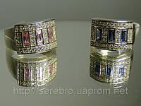 Серебрянные женские украшения с цирконием