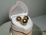 Гарнитур, серьги и кольцо, серебро 925 пробы с позолотой, фото 2