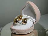 Гарнитур, серьги и кольцо, серебро 925 пробы с позолотой, фото 3