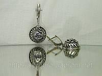Филигранные серебряные серьги