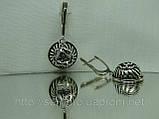 Филигранные серебряные серьги, фото 2
