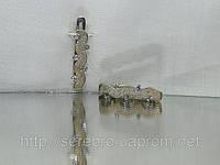 Серьги серебряные матирование, фото 1