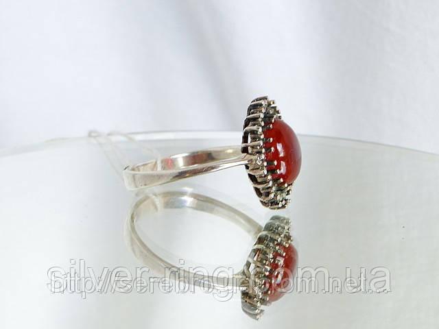 Кольцо серебряное с сердоликом