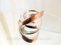 Необычное женское кольцо с позолотой