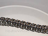 """Черненый браслет на руку плетение """" Панцерное """", фото 3"""