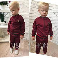 Детский модный теплый костюм для девочек и мальчиков