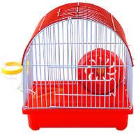 Клетка для хомяка, мыши, грызунов+опилки+корм Красный