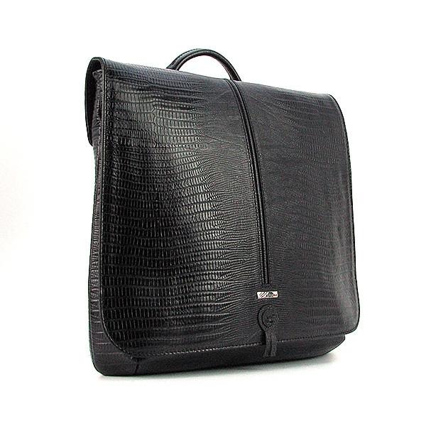 Сумка-планшет большая кожаная мужская черная Desisan 341-143 Турция