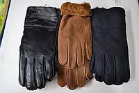 Мужские перчатки теплые на меху (дубленка)