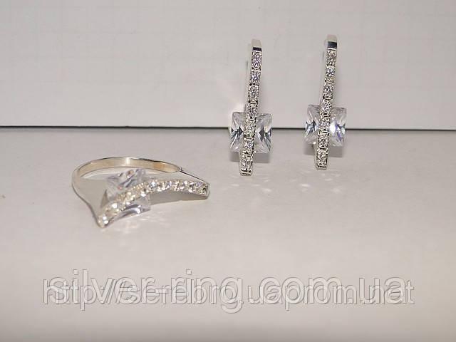 Гарнитур серебряных украшений