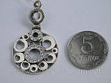 Современный серебряный кулон, фото 3