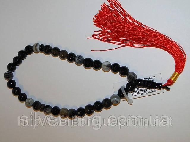 Четки из серого агата - прекрасный подарок